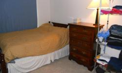 Trustworthy person wanted to share this condo. This is a 2 bedroom condo and the larger of the 2 bedrooms is for rent. Rent is $600 plus utilities. $50/mth will be charged for utilities and basic cable. It's a basic 2 bdroom condo with 1 bath. The room is