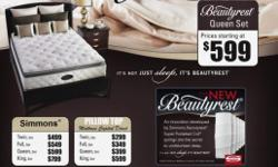 Mattress Capital is now having our Fall Sale. We are offering a $100 OFF coupon that can be found on our website and Free Delivery for all purchases $499 and up within a limited area. PILLOWTOP QUEEN MATTRESS SETS - $299.99 SIMMON'S Beautyrest QUEEN