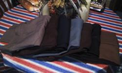 New Mens Dress Pants Levi and Wrangler.   different colors.     $3.00 a pair.   About 20 pairs in all. Most where bought at Western Store. Call 561 274-1081   1224 Gillespie Ave 540 South 1224