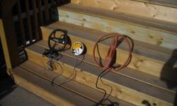 """MINELAB SOUVERN SX-PRO WITH 4 COILS. IN GREAT SHAPE. SUNRAY DIGITAL READOUT, SUNRAY PINPOINTER, 5"""" COIL, 14"""" COIL 10' coil. .stock double d coil. everything included. will sell separate if you just want one off the coils"""