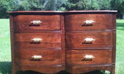 Newly restored mid century six drawer dresser.