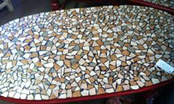 ONE OF A KIND MADE BY ME MOSAIC COFFEE AND END TABLE