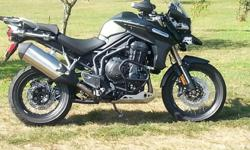 2013 TRIUMPH EXPLORER TIGER XC 1200! VERY NICE BIKE! TOP OF THE LINE! 1800 MILES HEATED SEATS, HEATED HAND GRIPS, HARD SADDLE BAGS! PRICED TO SELL 13,500.00 CALL FRED AT 501-318-7331