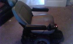 Motorized wheelchair, 5 speed Jazzy 600, with charger. Good condition, few minor scratches...but nothing major. Chair was used by my elderly mother in law. Seat reclines. Also has safety belt. Head rest also adjusts. Asking price starting at $1500 or best