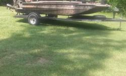 2013 excel swf4 1651. With winch trolling motor . 36hp mudbuddy with reverse an trailer $14.900 ph 870 370 0669