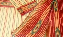 Versatile Sheet & Matching Comforter Set by Westpoint Stevens ~ Featured Item of JC Penney Luxurious-Looking Color Scheme: ~ Rich Burgundy, Deep Hunter Green & Beige Beautiful, Multi-Color Set Includes: - Full / Double Flat Sheet (Geometric Print) - 2