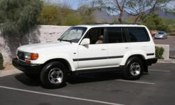 102,986 Miles A/C, 1997 TOYOTA LAND CRUISER. COLLECTORS EDITION. FULL LEATHER INTERIOR, SUNROOF, FULL POWER. CENTER LOCKING DIFF, (not front/rear lockers) LOW MILES! .please call for test drive . pick up only . Automatic transmission Leather seats Sunroof
