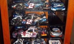 Includes: 1/24, 1/64 scale cars from Dale Earnhart Sr., Dale Earnhart Jr., Darrell Waltrip and Rusty Wallace.  Pictures attached.  For Pick Up Only. Also, can be sold separately. CASE SWIVELS. Text if interested in any of the cars we might