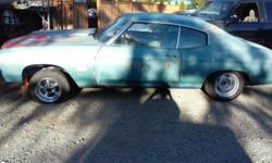 I'm a 1972 Chevelle I'm a ill rough lookin but I have a straight body, not a lot of rust, started workin on me lifted my frame off and sanded and painted! I need a motor, transmission and front seats! Most of all a new Paint job in your desired color! In