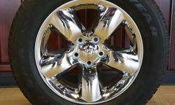 """NEW 20"""" CHROME DODGE RAM WHEELS WRAPPED IN 275/60/R20 GOODYEAR WRANGLER SR-A TIRES!!((($1000)))  ALSO IN STOCK NEW AND USED WHEEL AND TIRE PULL OFFS FOR CHEVY TRUCKS,CAMARO,CORVETTE,FORD TRUCKS,MUSTANG,DODGE RAM,CHARGER,CHALLENGER,JEEP"""
