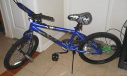 Im selling my Blue Abyss BMX bike. It's a 20in bike, with front wheel pegs you can also put pegs in the back wheels. I've never really rode it. It's just been sitting in my home taking up space. I bought it with the intention of riding it to work but