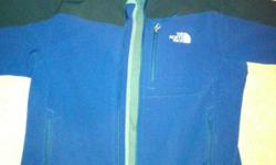 Black/Blue (color) North Face Apex Bionic Jacket (Men's Medium). This jacket has been worn lightly and has no visible signs of wear. Selling it because it doesn't fit right. Retail price $129. Description: For windy, cold weather activities, the coveted