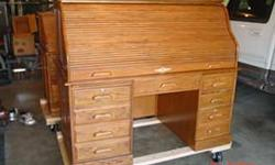 Solid oak computer desk great condition, local only, no shipping