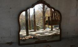 Old dark brown mirror