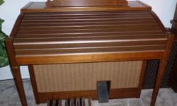 Electone Electric Organ - 2 four-octaves keyboards, 1 three-octave keyboard, and 1 one-octave foot pedals. Full range of instrument stops. Excellent condition. Great for a small church or individual organist. Call -- to arrange to