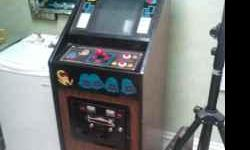 Pac Man Plus Arcade Machine from the 80's. The machine is in mint condition and has been sitting in a room for years without any play. It has been tested and everything works perfectly. It is one of the few Pac Man machines made smaller than the regular