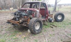 78 4 week drive doge 318 auto Trans front and rear, axels, frame parts truck only no tittle or body