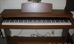 KURZWELL PIANO - THIS PIANO DOES IT ALL. IT HAS EXTERNAL JACKS FOR ADDITIONAL SPEAKERS IF NEEDED. RECORDS. HAS THE FOLLOWING.  GRAND PIANO 1 GRAND PIANO II ELECTRIC PIANO VIBES, HARPSCHORD, PIPE ORGAN, FAST STRINGS, SLOW STRINGS, FAST CHOIR, SLOW