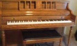 Piano, Kimball walnut finish, Great condition. Ask for Vickie -- or --