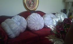 PURE QUALITY!!! Elegantly styled HANDMADE decorative pillows for your sitting room. These beautiful works of art will definitely capture the envy of your visitors. Just imagine these pillows as a couch, or chair accessory in your living room. And