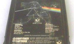 Extremely Rare Music Collectible - Pink Floyd: The Dark Side of the Moon - Original Pre Quadraphonic (Q8) 1973 Concept Album 8 Track Music Audio Tape - Recorded at Abbey Road Studios in London - U.S. release The Gramophone Company Ltd 8XW-11163. This 70's