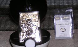 Pokemon 23kt Gold Plated Trading Card #150 Mewtwo Pre-Owned but has never been open as far as the card or the info card. This Pokeman Special Edition 23kt Gold Plated Trading Card has been produced to the highest standards for Nintendo of America. 23kt