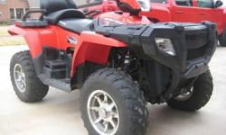2008 Polaris Sportsman 500 Touring 4x4. One-owner, gently used, garage kept. Service records available at dealer. This is a must see for those seriously interest in purcahsing a like-new ATV. Asking price is the average of the Nov. 2010 NADA wholesale &