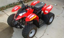 Perfect starter set!!! In great shape hardly been used 2006 polaris. truck ramp, armor,battery charger and flag, If you want the set 1100.00