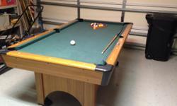 Pool Table 6' x 3' w/4 pool sticks, pool balls and table brush. call 954-558-7065
