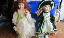 porcelain dolls $20 each...