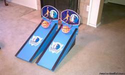 Custom made, Team of choice. Basketball and Bean bag toss game.