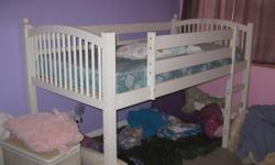 Upper bunk bed - lower play area with canopy cover - great for sleepovers/playtime