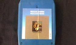 """Extremely Rare Music Collectible - """"Procol Harum: Procol's Ninth"""" studio album 1975 - Original Pre Quadraphonic (Q8) 8 Track Music Audio Tape - Recorded in Los Angeles at Chrysalis Records on Sunset Blvd. Item #1080, features 12 classic rock song tracks."""