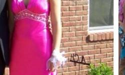 Size 8 prom dresses. One deep pink and one deep purple. Paid over $300 each. Worn once. Beautiful dresses.