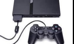 it is a used ps2.it has 2 controllers and is black with all of the stuff that you need with it.If i do not answer leave a message.