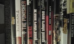 Up for sale i have 10 ps2 video games.They are all used but all play in excellent condition with an interuption to game play. Selling because i know longer have a ps2 as i have upgraded. The games listed here are:  SCARFACE GRAND THEFT AUTO 3 THE