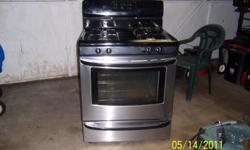 Stainless steel Range hood and Black Sears kenmore stove only three years old 500.00 for both or OBO Email at verweyst4@aol.com