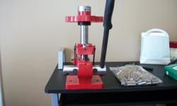 all american turret press/357 dies/powder measure full set lyman/baggie resized and deprimed 357 all in ex condition