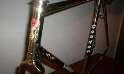 YES. REAL GOLD PLATED CONDOR ROAD BIKE - FINEST BICYCLE MAKERS ART - A RARE PIECE OF HISTORY ENTIRE FRAME AND FORK ARE GOLD PLATED. SELLING FOR $1,200. (THE GOLD VALUE IS PROBABLY WORTH MUCH MORE) BIKE ART YOU CAN RIDE OR, HANG ON THE WALL AS SCULPTURE.