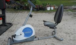 Weslo Pursuit g 3.8 recumbent exercise bike. In good condition. Call --