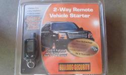 Bulldog remote car starter and bypass kit.