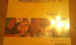 Brand New in box Factory Sealed Rosetta Stone Latin America v3 Levels 1-5  Waiting for whoever ready to purchase for a GREAT DEAL !!!    5 Audio Companions 27 DVDS TOTAL all inside Spanish Keyboard Registration Key  Talking