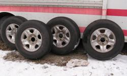Regul a/p trailblazer tires p255/70-16 mounted on 5 hole aluminum ford wheels. good rubber