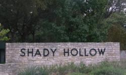 SHADY HOLLOW ? SOUTHWEST AUSTIN REAL ESTATE Shady Hollow is a popular community in Southwest Austin. Mainly constructed in the late 1980s, this neighborhood has many amenities. Here is the Shady Hollow Homeowners? Association website