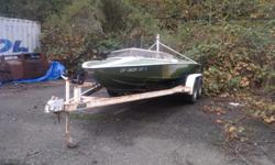 1970 ski boat with GM 455 motor. Green metallic. Seats five. Been setting. Needs a little TLC. What you got to trade? Call Richard at --