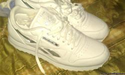 White new Reebok men's size 12