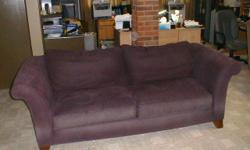 """dimensions are 90""""(l) x 34"""" (w)x 20"""" (H) color - """"artic plum"""" 10 YEARS OLD no holes or tears (back cushions are detachable) original price was $2000 buyer must remove from house (two man job)"""