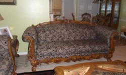 for sale brown and black sofa