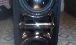 SPX PRO AUDIO DUAL SPEAKERS IN EXCELLENT CONDITION. ALSO AVAILABLE IS AN AMPLIFIER FOR $75 IN GREAT CONDITION. ALL PLUGS AND WIRES INCLUDED. Also a car stereo by Sony for $25. Contact me immorally for quick sale pick up or delivery.