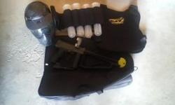 I have a Spyder MR1 (perfect condition) with bag, vest, pods, gloves, 20 oz. co2 tank, 9 oz. co2 tank, and full face helmet. Call or text